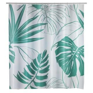 Rideau de douche exotique Brasil - PEVA - 180 x 200 cm - Vert d'eau