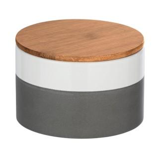 Boîte de conservation aliment design Malta - 0,75 L - Gris et blanc