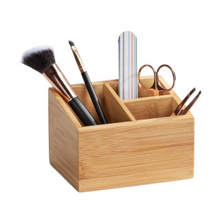 Organisateur à maquillage en bambou Terra - 3 Compartiments