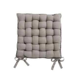 Galette de chaise Tressée - 40 x 40 cm - Taupe mastic