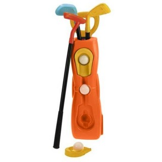 Jouet enfant - Caddy de golf et accessoires - Orange