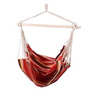 Hamac chaise Bolivia - L. 120 x l. 130 cm - Rouge