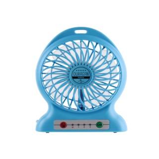 Ventilateur portable rechargeable - Bleu