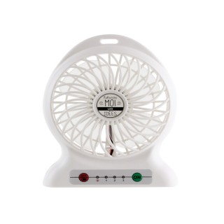 Ventilateur portable rechargeable - Blanc