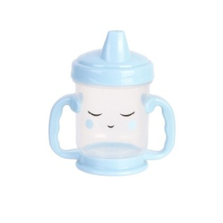 Tasse de transition avec bec Baby - Anti fuite - 210 ml - Bleu