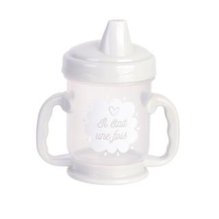 Tasse de transition avec bec Baby - Anti fuite - 210 ml - Blanc