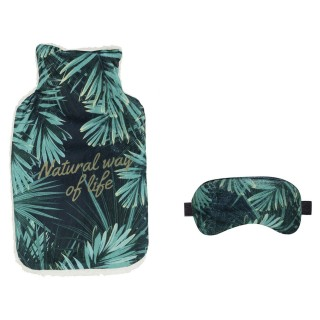 Bouillotte et masque de sommeil Tropical - 200 ml - Vert