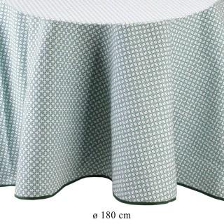 Nappe ronde vintage Little Market - Diam.180 cm - Blanc