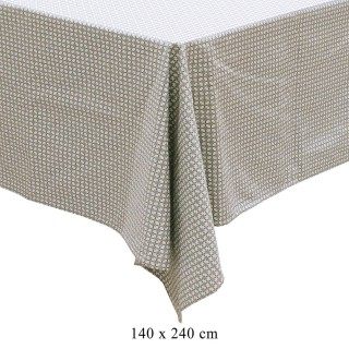 Nappe rectangulaire vintage Little Market - L. 240 x l. 140 cm - Blanc