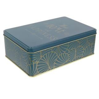 Boîte à sucre design Art Déco - Bleu