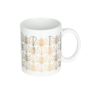 Mug design ananas Art Déco - 300 ml - Blanc