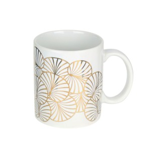 Mug design tropical Art Déco - 300 ml - Blanc