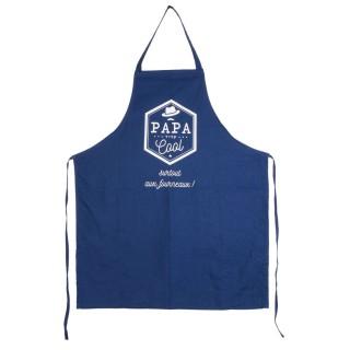 Tablier de cuisine homme Papa - Bleu
