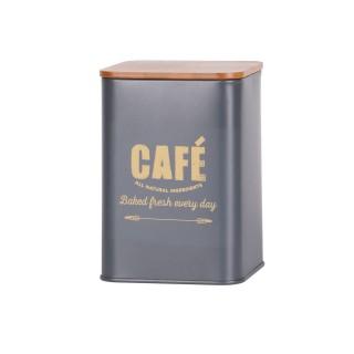 Boite à café en bambou Bakery - Gris