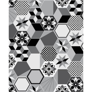 Crédence adhésive carreaux en aluminium Exa - L. 70 x l. 40 cm - Gris