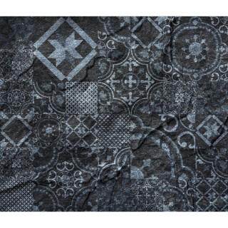 Crédence adhésive en alu imitation Ardoise - L. 70 x l. 40 cm - Noir