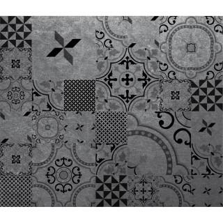 Crédence adhésive en alu imitation Métal - L. 70 x l. 60 cm - Noir