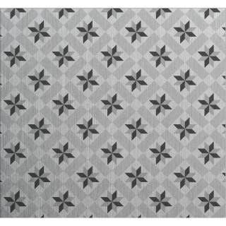 Crédence adhésive en aluminium Carreaux - L. 70 x l. 60 cm - Gris