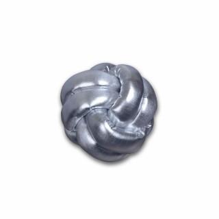 Coussin décoratif tressé Knot - Diam. 25 cm - Argent