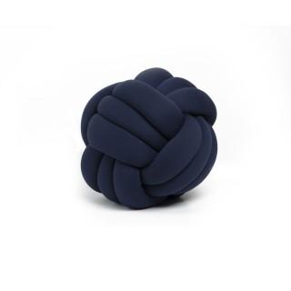 Coussin décoratif tressé Knot - Diam. 45 cm - Bleu marine