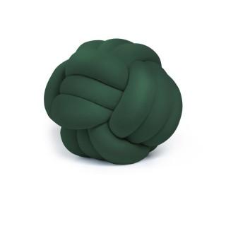 Coussin décoratif tressé Knot - Diam. 45 cm - Vert
