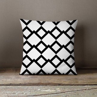Coussin design andro Black and White - L. 45 x l. 45 cm - Blanc