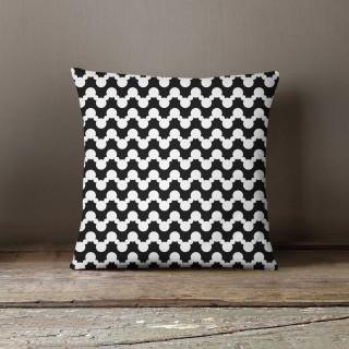 Coussin design scott Black and White - L. 45 x l. 45 cm - Noir