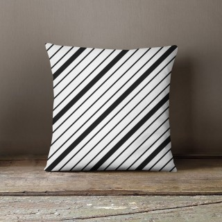 Coussin lowell austin Black and White - L. 45 x l. 45 cm - Blanc