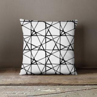 Coussin lowell parker Black and White - L. 45 x l. 45 cm - Blanc