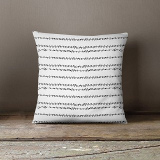 Coussin lowell morgan Black and White - L. 45 x l. 45 cm - Blanc