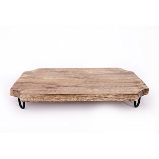 Planche à découper en bois Kilia - L. 40 x l. 25 cm