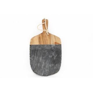 Planche à découper bois et ardoise Sappa - L. 36 x l. 20 cm