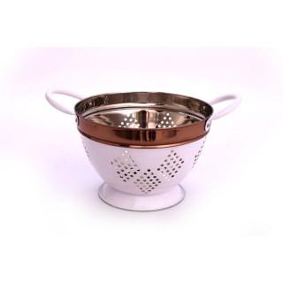 Passoire en inox Copper - Diam. 21 cm - Blanc