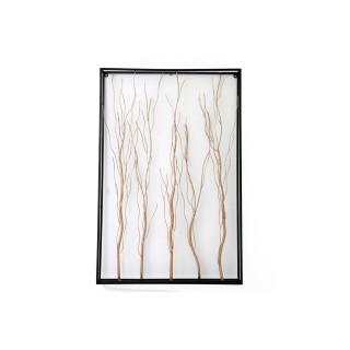 Cadre avec branches d'arbre Algo - L. 60 x H. 91 cm - Noir
