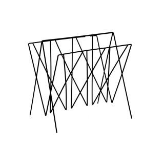 Range magazine en métal filaire Edgard - Noir