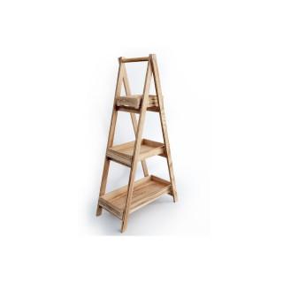 Etagère pyramide design bois Scandi - H. 87 cm - Marron