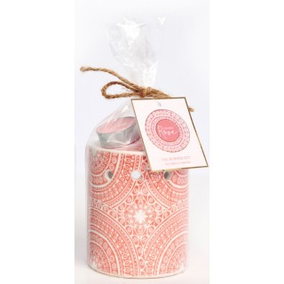Brûle parfum bohème Mandala - Rose