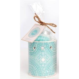 Brûle parfum bohème Mandala - Bleu
