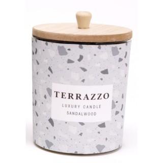 Bougie en pot effet Terrazzo - Gris