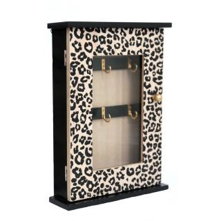 Boîte à clés léopard Savane - L. 22 x H. 30 cm - Noir