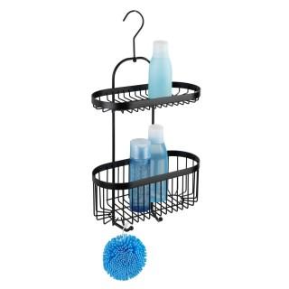Etagère de douche à suspendre indus Classic - L. 26 x H. 47 cm - Noir