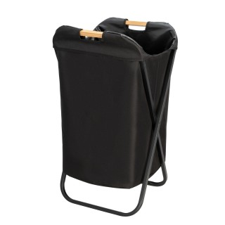 Panier à linge industriel Loft - L. 41 x H. 80 cm - Noir