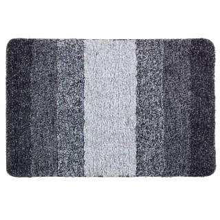 Tapis de salle de bain moderne Luso - L. 90 x l. 60 cm - Gris
