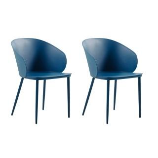 2 Chaises design Dalis - Bleu