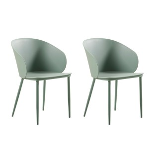 2 Chaises design Dalis - Vert d'eau