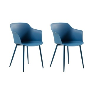 2 Chaises design Corona - Bleu
