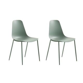 2 Chaises design Antila - Vert d'eau