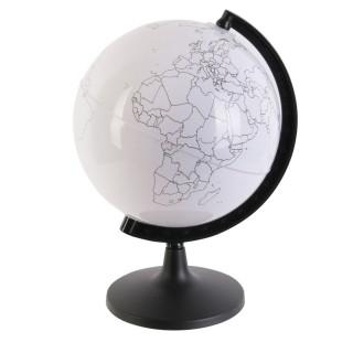 Jouet éducatif - Globe terrestre rotatif à colorier