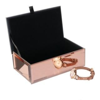 Boîte à bijoux design Chic - Rose cuivré