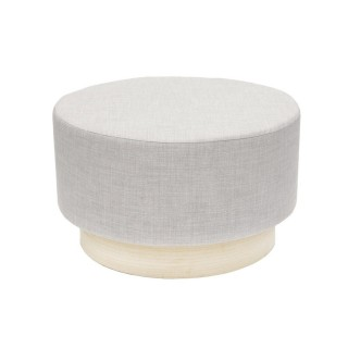 Pouf scandinave Cocooning - Diam. 60 cm - Gris clair